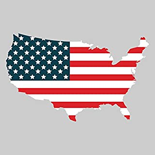 Larger Than Life Prints 762988907350 The United States State Flag Decal