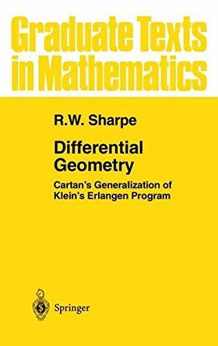 Differential Geometry: Cartan's Generalization of Klein's Erlangen Program (Graduate Texts in Mathematics) by R.W. Sharpe (2000-11-21)