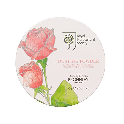 Bronnley The Royal Horticultural Society Dusting Powder, Rose 75 g by Bronnley