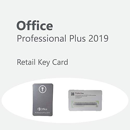 MicrosoftTM Office Professional Plus 2019 | Plurilingue | 1 PC (Windows 10) | Licenza Permanente | Key Card