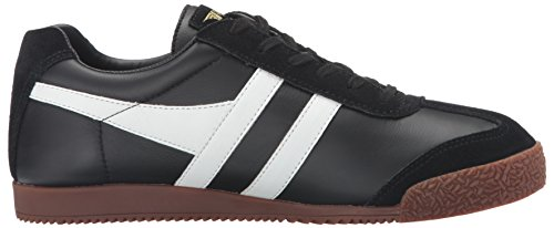 Gola Herren Harrier Leather Sneakers Schwarz (Black/White/Gum)