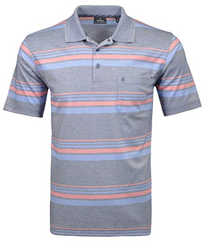 Ragman Herren Softknit Streifen-Poloshirt Multi - Herren-multi-streifen-shirt