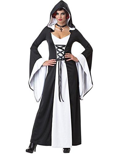 Zauberin Hexe Vampirin Kostüm Karneval Fasching Verkleidung Damen (Hexe Vampirin)