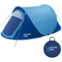 Active Era Upgraded Large 2 Person Pop Up Tent - Water-Resistant, Ventilated and Durable