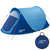 tenty.co.uk Active Era® Upgraded Large 2 Person Pop Up Tent - Water-Resistant, Ventilated and Durable