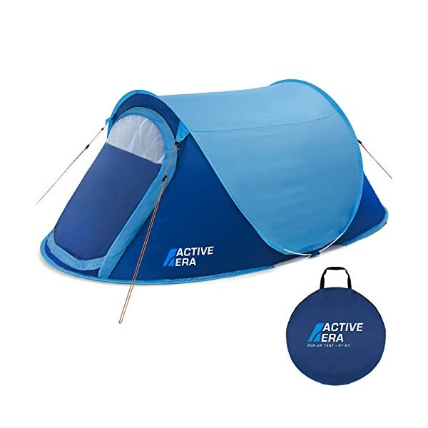 Active Era® Upgraded Large 2 Person Pop Up Tent - Water-Resistant, Ventilated and Durable 1