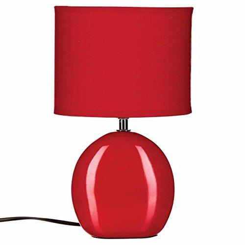Paris Prix Lampe à Poser ovale Céramique 31cm Rouge