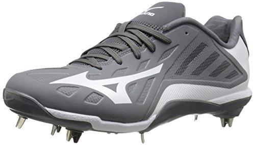 Mizuno Herren Heist IQ Baseball Schuh, grau/weiß - Größe: 40.5 EU