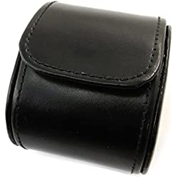 Leather case 'Munich'black (1 wrist watch).