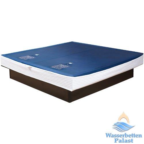2xPremium Comfort Wasserkern inkl. Liner/Schutzfolie - Erneuerungsset für Wasserbett/Wasserbettmatratze Größe 180x200 cm Dual - Softside-Umrandung: Innen keilförmig 20-23 cm - Beruhigung 90% / F6