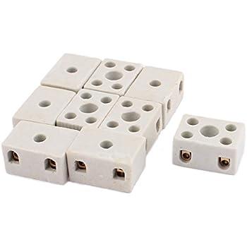 2 pcs 2W5H haute température en Porcelaine Céramique Terminal Bloc 30 A 110-600 V