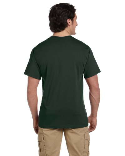 Jerzees 5.6 oz 50/50 Heavyweight Blend Pocket T-Shirt Gr. XX-Large, waldgrün (Jerzees Heavyweight Blend)
