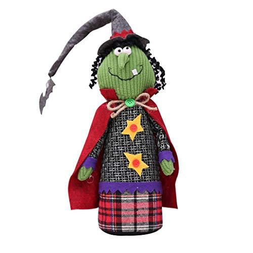 (SEWORLD Halloween Puppe Geist Dekoration Bar Kürbis Atmosphäre Dekor Spielzeug(B,40x10cm))