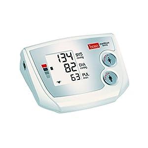 boso medicus family – Partner-Blutdruckmessgerät mit 2 Speicher-Plätzen, großem Display und Arrhythmie-Erkennung – Inkl. Universal-Manschette (22-42cm)