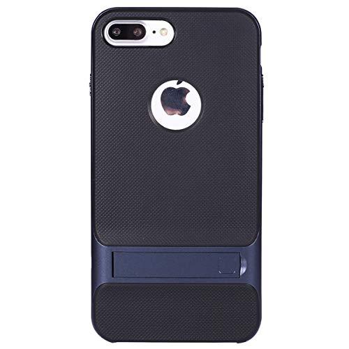 MoreChioce kompatibel mit iPhone 8 Plus Hülle,kompatibel mit iPhone 7 Plus Schutzhülle Kickstand, Marine Anti-Scratch Handyhülle Dual Layer Silikon + PC Armor Stoßfest Bumper mit Ständer,EINWEG Marine-elektronik-halterungen