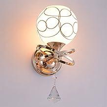 Lampada da parete camera da letto Lampada lampada da comodino parete LED moderno e semplice camera soggiorno scala balcone corridoio Lampada da parete, Una testa d'oro con tre colori lampadina LED