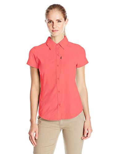 Columbia Silver Ridge-Camicia a maniche corte da donna, donna, Silver Ridge Short Sleeve, Bright Geranium, XL