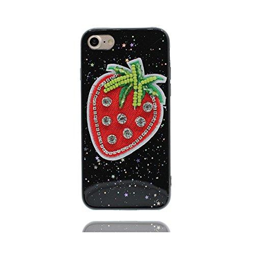 iPhone 6 Plus Custodia, Design morbido mobile Case iPhone 6S Plus copertura Cover Shell Graffi Resistenti [ Cartoon cactus Thorns ] e ring supporto Nero 6