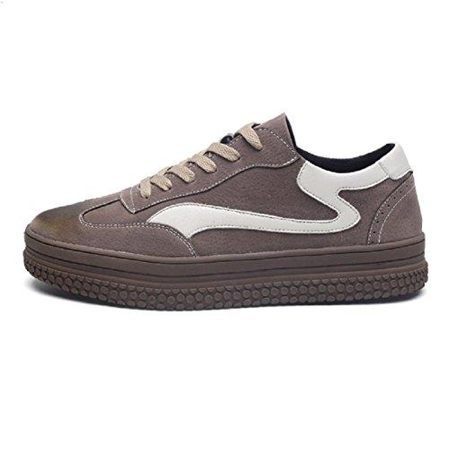 Uomo Spessore inferiore All'aperto Scarpe sportive formatori Ballerine Antiscivolo Aumenta le scarpe Scarpe da ginnastica euro DIMENSIONE 39-44 brown