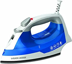 BLACK+DECKER IR03V Easy Steam Iron Nonstick Soleplate with Steam Surge & Spray Mist Function and Easy View Anit-Drip Water Tank, Small Travel Iron, Clothing Iron by BLACK+DECKER