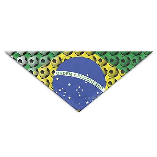 (Hectwya Brasilien-Nationalflagge-Fußball-Hundebandana-Schellfisch-Welpen-Katzen-Kopf-Schal-Zubehör)
