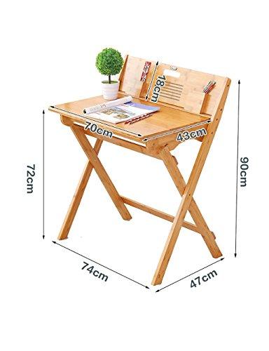 Mesa moderna de ocio simple Mesa de aprendizaje Mesa portátil plegable de mesa Material de bambú