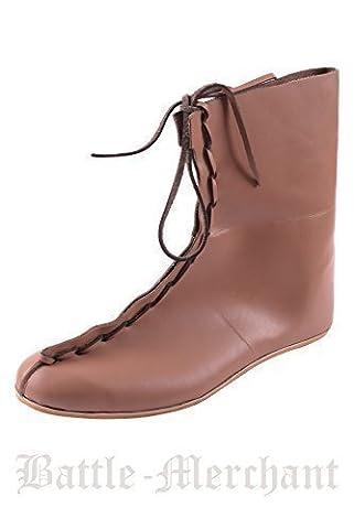 Auxiliar romains bottes - 4 siècle n. chr. römer-chaussures en cuir de style médiéval-lARP-viking - Marron - Marron, 42 EU / 8 UK EU