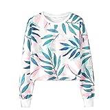 Womens Long Sleeve Leaf Printing Rundhals Sweatshirt Bluse Tops Supreme Hoodie Ck Pullover Blowhammer Sweatshirt Kariert