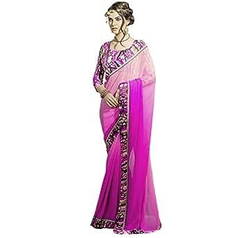 Mrinalika Fashion Georgette Saree (Georgette Saree _Mnt7018_Pink)