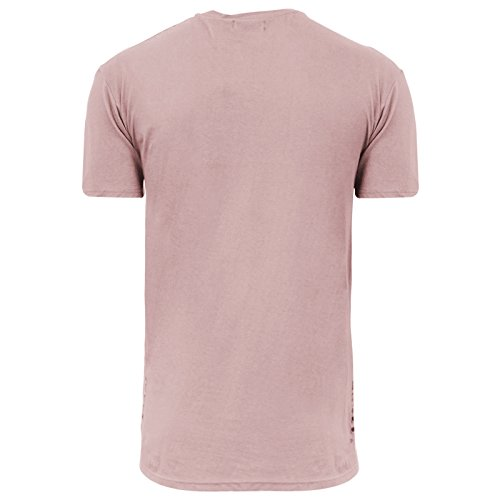Brave Soul Herren T-Shirt weiß weiß Small Summer Pink