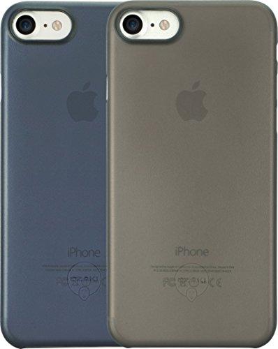 Ozaki O!Coat 0.3 Jelly Slim 2 in 1 Schutzhüllen Set für Apple iPhone 7 / 8 [Schwarzes und blaues Cover | 0.3mm dünn | 4g leicht | Extrem passgenau | Transparent] - OC720KD