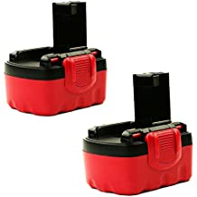 CELLONIC® (2x) Batería premium (14.4V, 3000mAh, NiMH) para Bosch BAT038, BAT040, BAT140 / Angle Exact 17, GDS 14.4V, GLI 14.4V, GSB 14.4 VE-2 - bateria de repuesto, pila reemplazo herramienta, sustitución