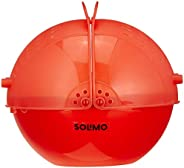 Amazon Brand - Solimo Plastic Drainer/Colander with lid (Red)