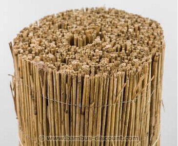 Schilfrohrmatte Premium, 100 x 600cm Sichtschutzmatte Schilfmatten von bambus-discount.com auf Du und dein Garten