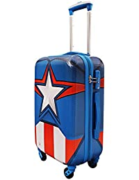 GAMME Marvel Captain America Shield Polycarbonate 20-Inches Multicolour Hard Sided Kid's Luggage Trolley Bag