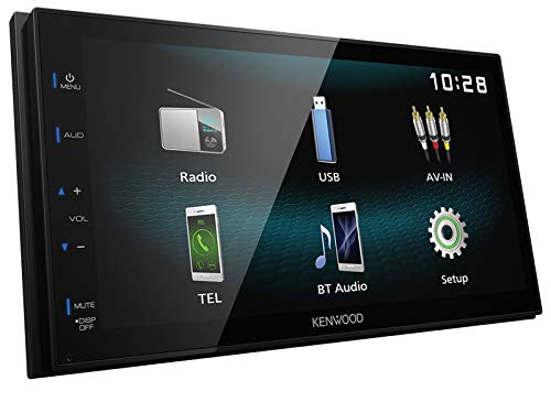 Kenwood-DMX120BT-2-DIN-Digital-Media-Receiver-Bluetooth-Shortbody-Bluetooth-passend-fr-Suzuki-Splash-2008-2014-schwarz