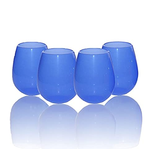 ThreeCat® Set of 4 Silicone Wine Glasses Collapsible Stemless Beer Whiskey Portable Drinking Cups(12oz