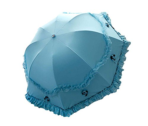 UV Sunscreen Princesse Parapluie Arc Ensoleillé Umbrella Vinyl Lace Parasol