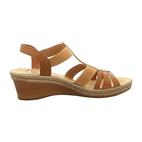Rieker  V2421-24, Sandales pour femme marron marron Marron
