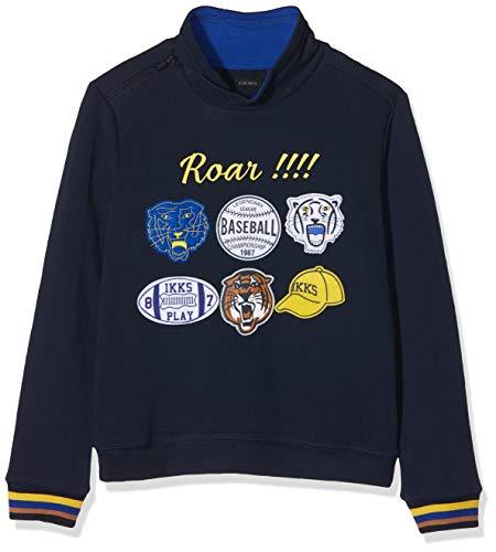 IKKS Junior Sweat Patchs Shirt, Bleu (Navy 48), 12 Ans (Taille Fabricant:12A) Garço