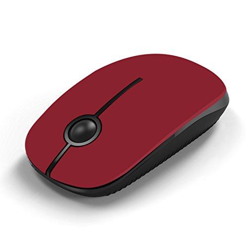 Jelly Comb Ratón inalámbrico de 2,4 GHz con receptor nano para el ordenador portátil / Macbook / tableta, preciso y silencioso (Rojo)