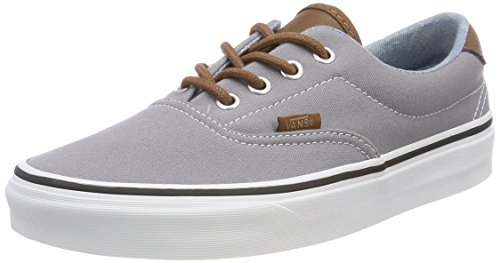 Vans Era 59, Zapatillas Unisex Adulto, Gris (C/Yellow), 34.5 EU