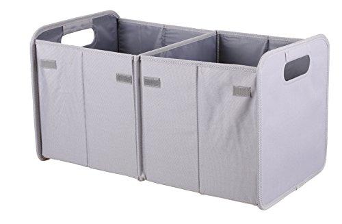 Betz Textil Faltbox Autobox Klappbox Aufbewahrungsbox Kofferraumtasche Größe: 56x30x30 cm Farbe: grau