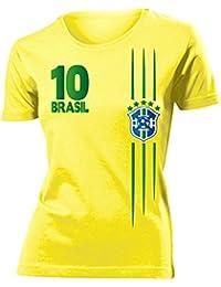 FOOTBALL WORLD CUP - EUROPEAN CHAMPIONSHIP BRASILIEN FAN T-Shirt Femme Small - XX-Large