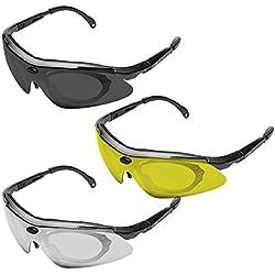 KONUS#8063 Gafas con lentes de TIRO intercambiables Sporting Skeet Trap