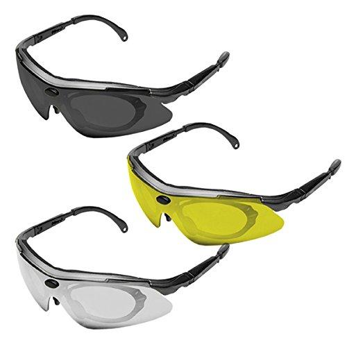 KONUS #8063 occhiali con lenti INTERCAMBIABILI da TIRO Sporting Trap Skeet