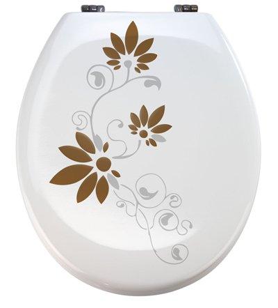 Aufkleber WC Toiletten Deckel St02 für Pressalit silbergrau/braun Vinyl
