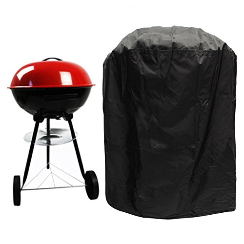 BBQ Cover, Big Fitted Outdoor Waterproof Rain Proof Kettle Barbecue Grill Covers Garden Patio Grill Protection with Elasticated drawing Hem/Coating (Dia77*58H cm)