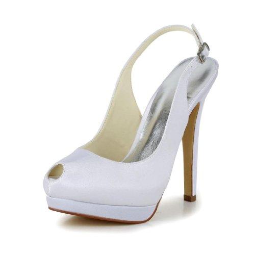 Jia Jia Wedding 40915 chaussures de mariée mariage Escarpins pour femme Blanc