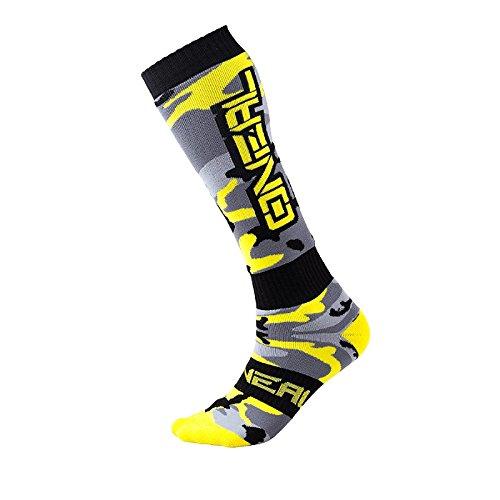 O'Neal Pro MX Knie Socken HUNTER Schwarz Neon Gelb Hi-Viz Strümpe Motocross Enduro Offroad Downhill, 0356-733